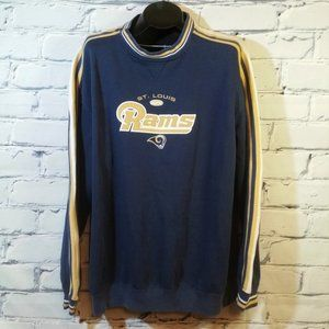 VTG St Louis Rams Sweatshirt Embroidered Spellout